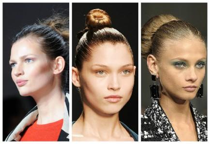 tendances hairstyle Chignon-relevé