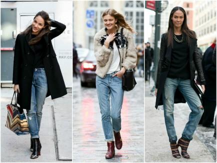 combinaison jeans+bottines