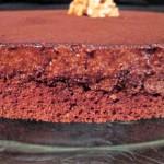 Moussecake Chocolat mousse fourrée aux noix