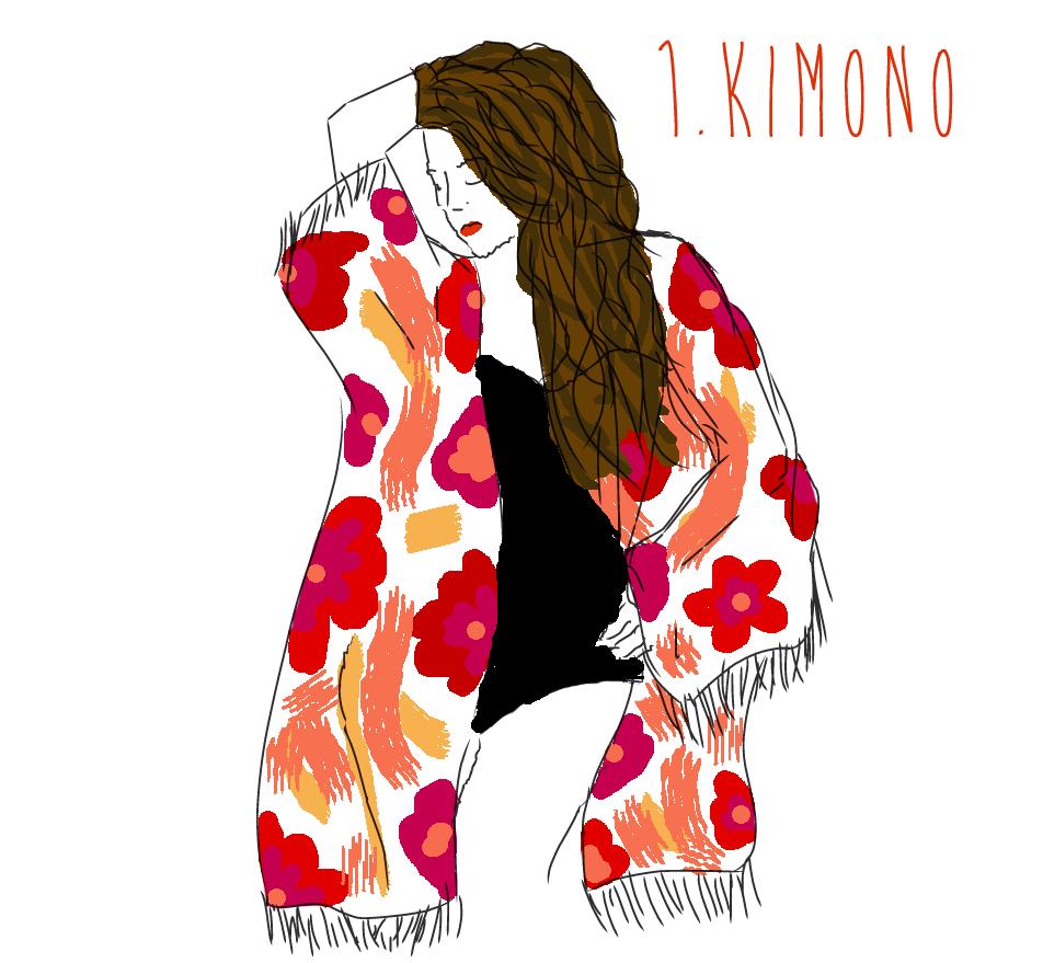 mots de l'été kimono