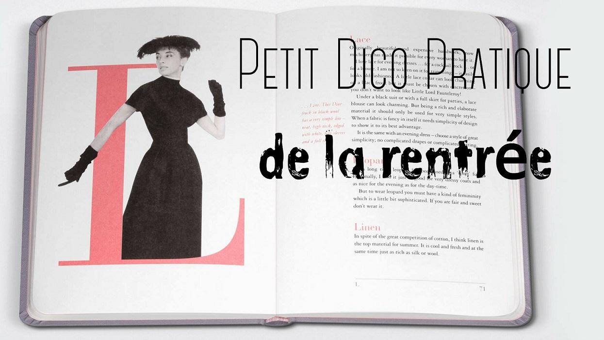 Dictionnaire : Mots de la rentrée 2015