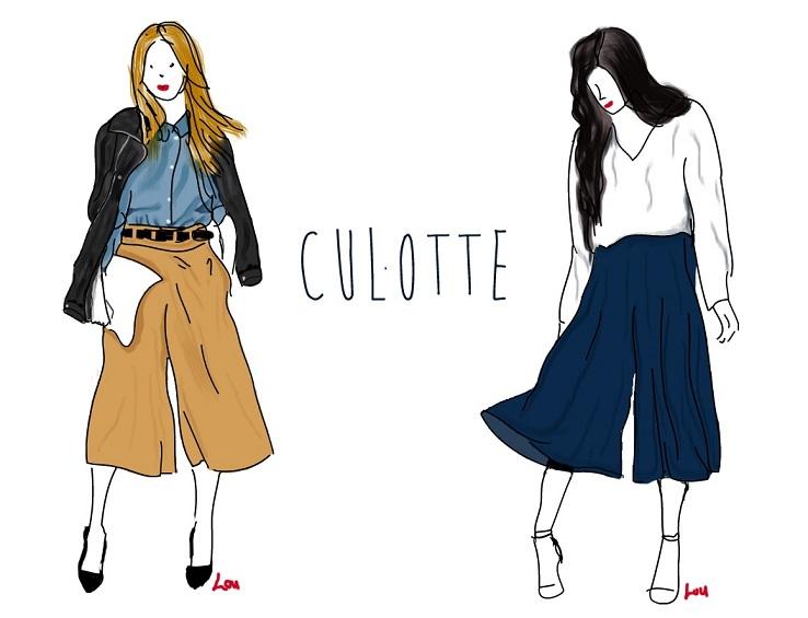 Mots de la rentrée 2015 jupe culotte