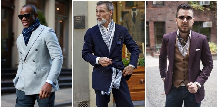 6859ca79f8b7 Comment porter une écharpe en soie homme - Idée pour s habiller