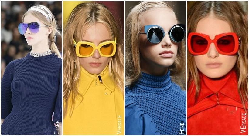 Tendances accessoires automne hiver 2015 lunettes colorées