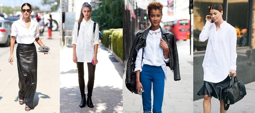 Comment se distinguer en chemise blanche paperbagg - Comment porter une chemise femme ...