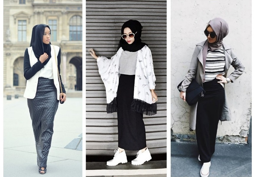 jupe tube hijab style