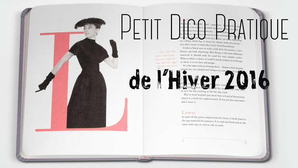 Dictionnaire : Mots de l'Hiver 2016