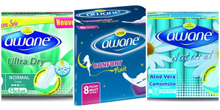 Coups de cœur produits Algériens serviettes hygièniques Awane