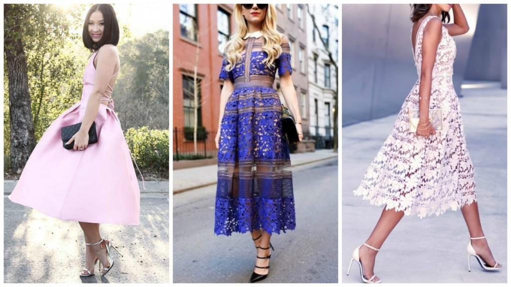 Midi Dress, comment porter ce Must have Printemps Été 2016 wedding look