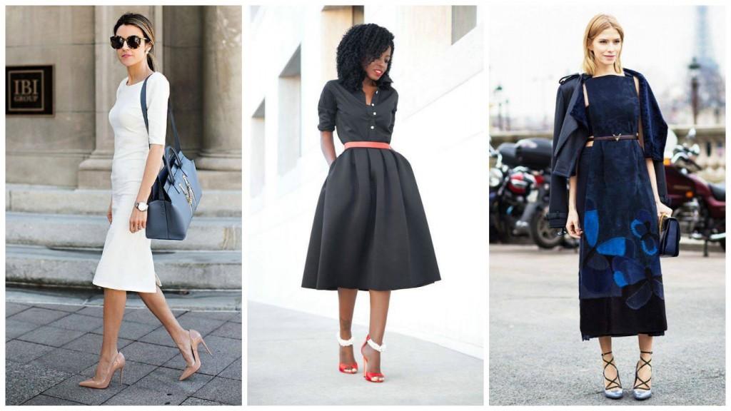 Midi Dress, comment porter ce Must have Printemps Été 2016 working femme fatale