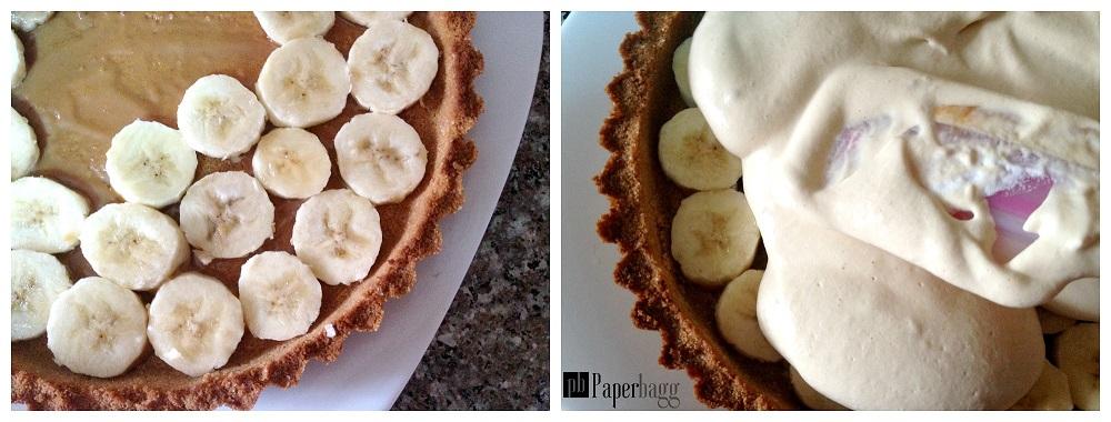 Tarte à la banane et à la crème caramel