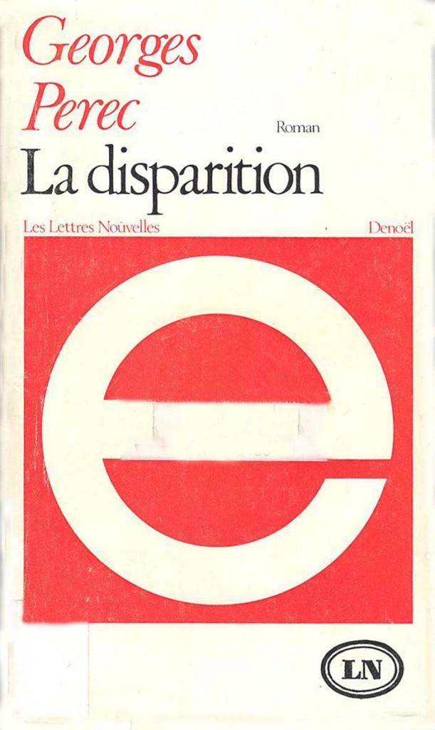 Un livre, une particularité la disparition Georges Perec