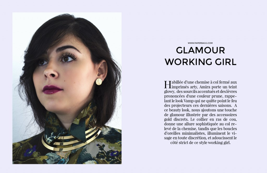 EDITORIAL Into Amira's Quiet world galmour working girl