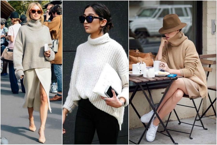 Knitwear façon casual chic col roulé