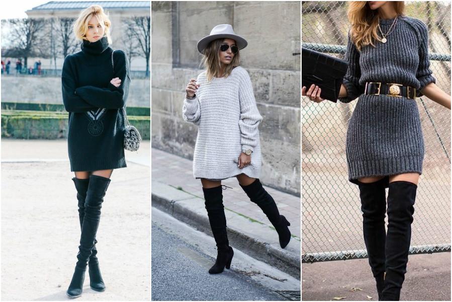 Knitwear façon casual chic knit dress