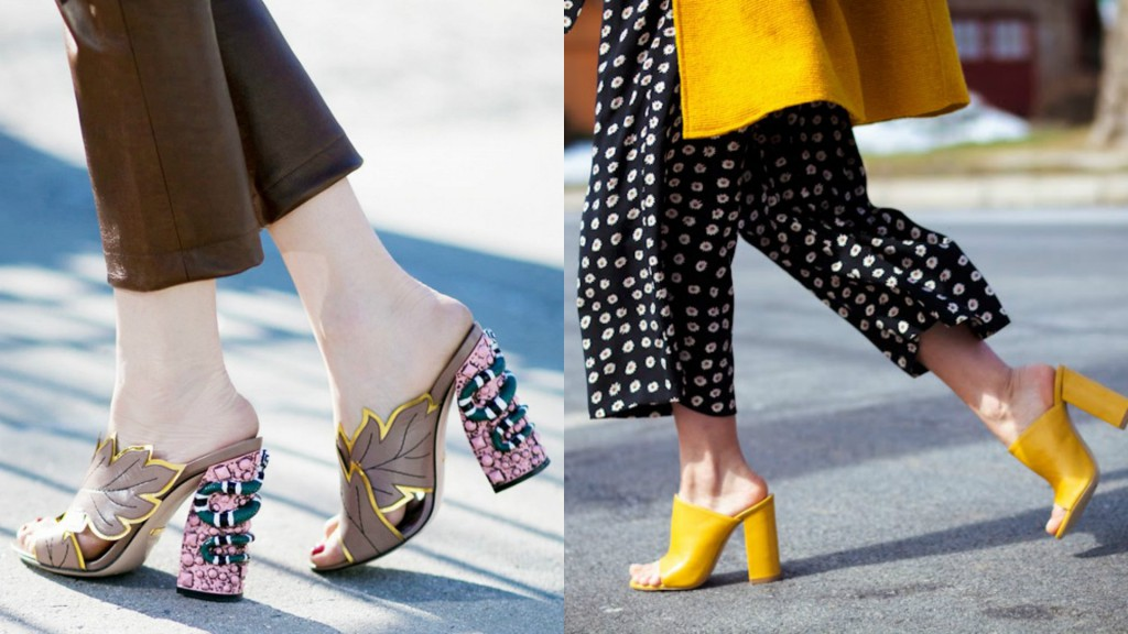 shoe trends SS17 healed mules