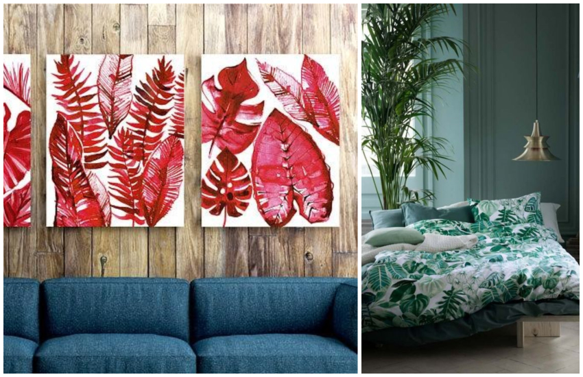 tropical prints décor
