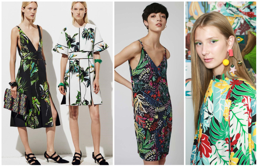 tropical prints fashion