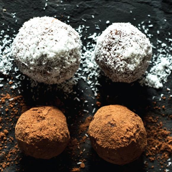 Boules Chocolat et Dattes