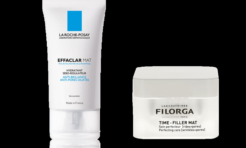 La crème de la crème pour ma peau La Roche Posay Effaclar MAT hydratant matifiant sébo-régulateur Filorga Time-Filler Mat