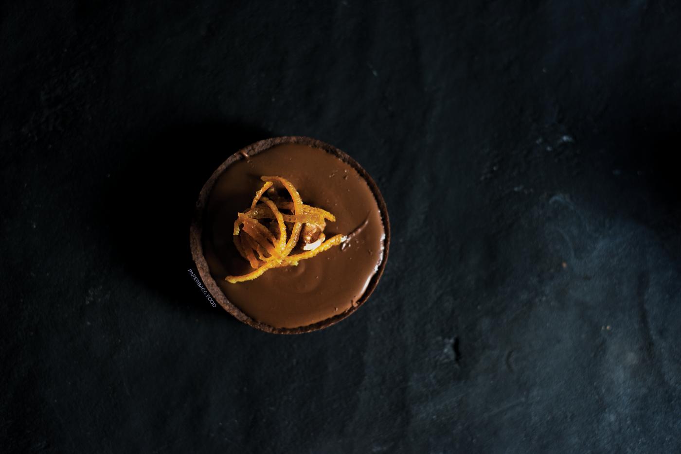 tarte au chocolat noir et l 39 orange paperbagg. Black Bedroom Furniture Sets. Home Design Ideas